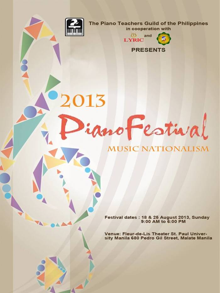 2013 PianoFest POSTER