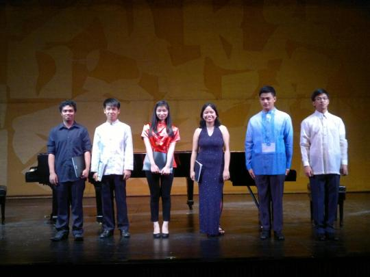 The young pianists of PTGP during Pasinaya 2014. Photo credit: Mr. Anthony Say