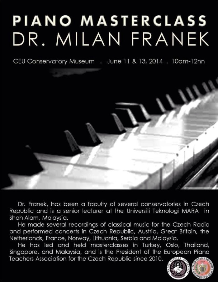 Masterclass for FACULTY and STUDENTS